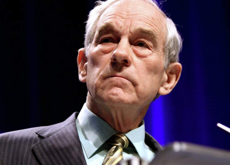 A file photo of former US Congressman and presidential candidate Ron Paul