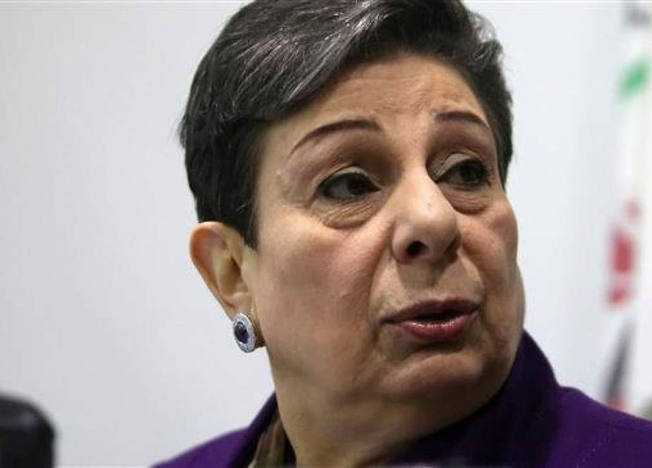 Hanan Ashrawi, a member of the Executive Committee of the Palestine Liberation Organization (AFP)