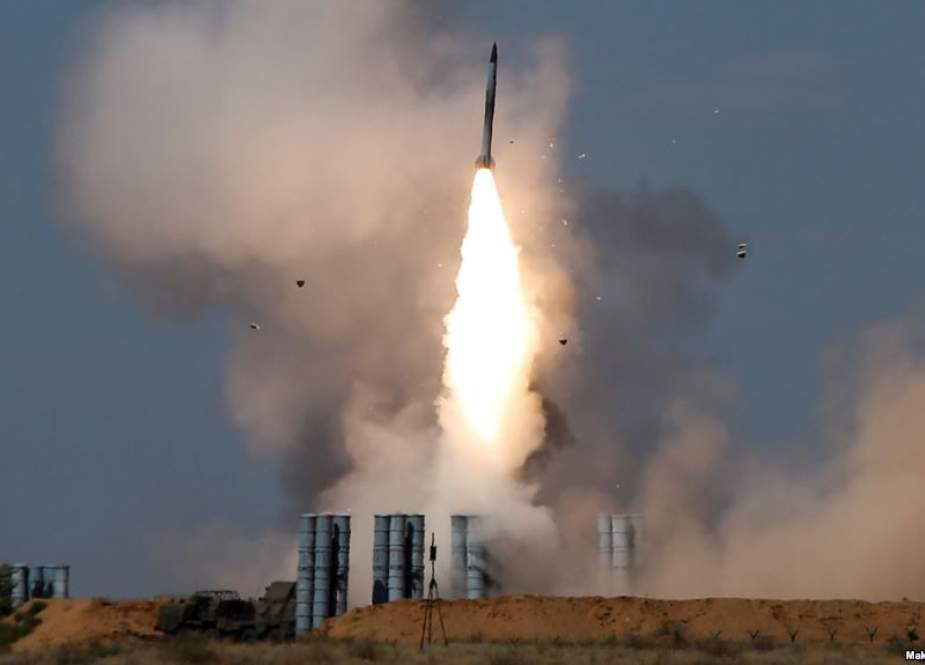 File photo shows a missile launched by an S-300 anti-aircraft system