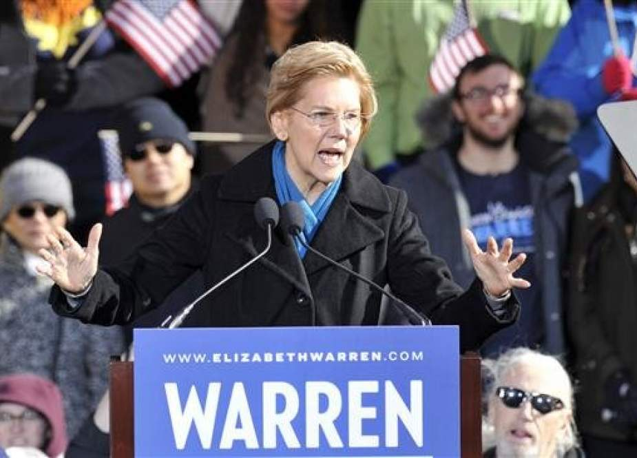 US Senator Elizabeth Warren speaks during her presidential candidacy announcement event at the Everett Mills in Lawrence, MA on February 9, 2019. (Photo by AFP)