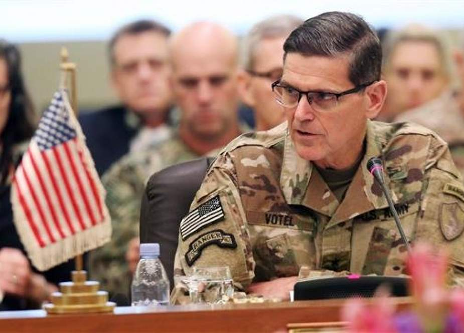 Commander of United States Central Command Joseph Leonard Votel, speaks during a meeting in Kuwait City on September 12, 2018. (AFP photo)