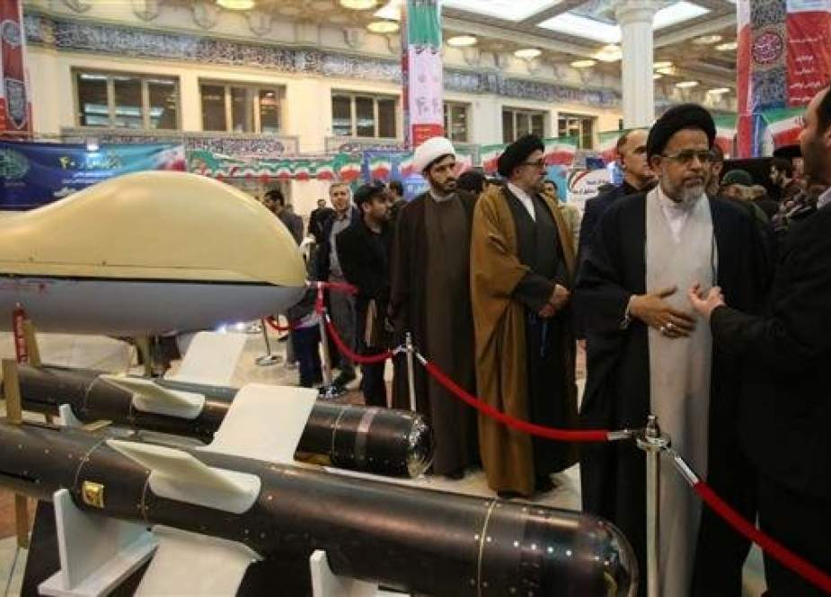 Intelligence Minister Mahmoud Alavi visits an exhibition showcasing Iran's defense capabilities in Tehran on February 10, 2019. (Photo by IRNA)