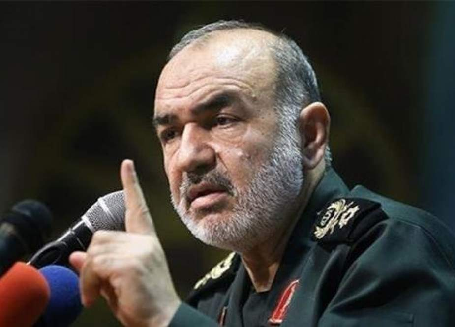 The file photo shows Brigadier General Hossein Salami, the IRGC