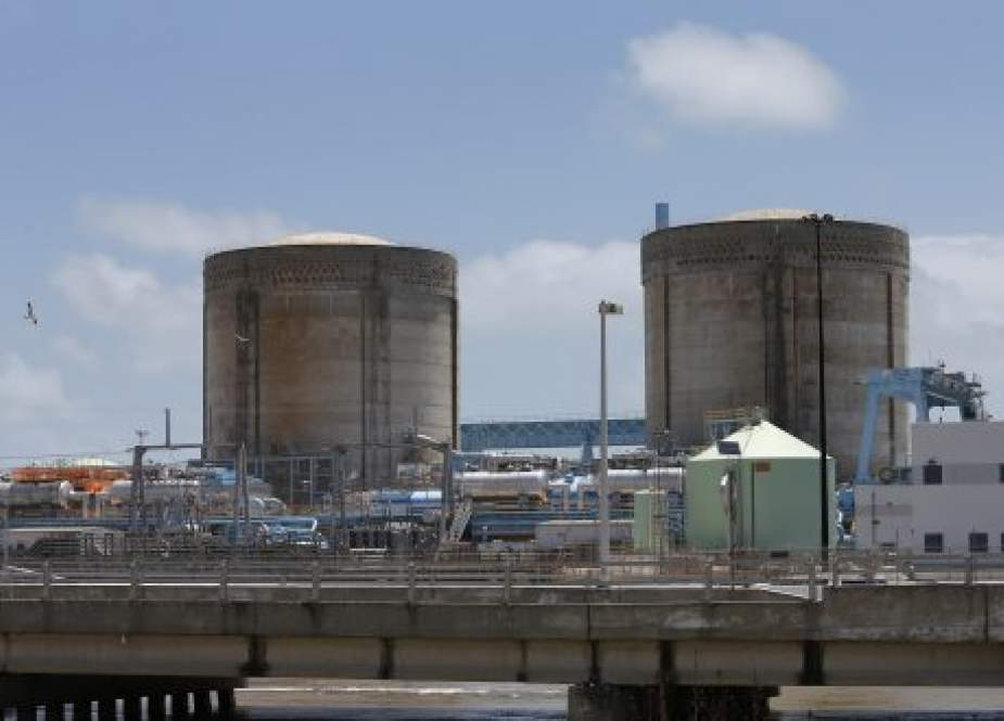 This file photo shows a general view of the Turkey Point Nuclear Reactor Building in Homestead, Florida. (Photo by AFP)