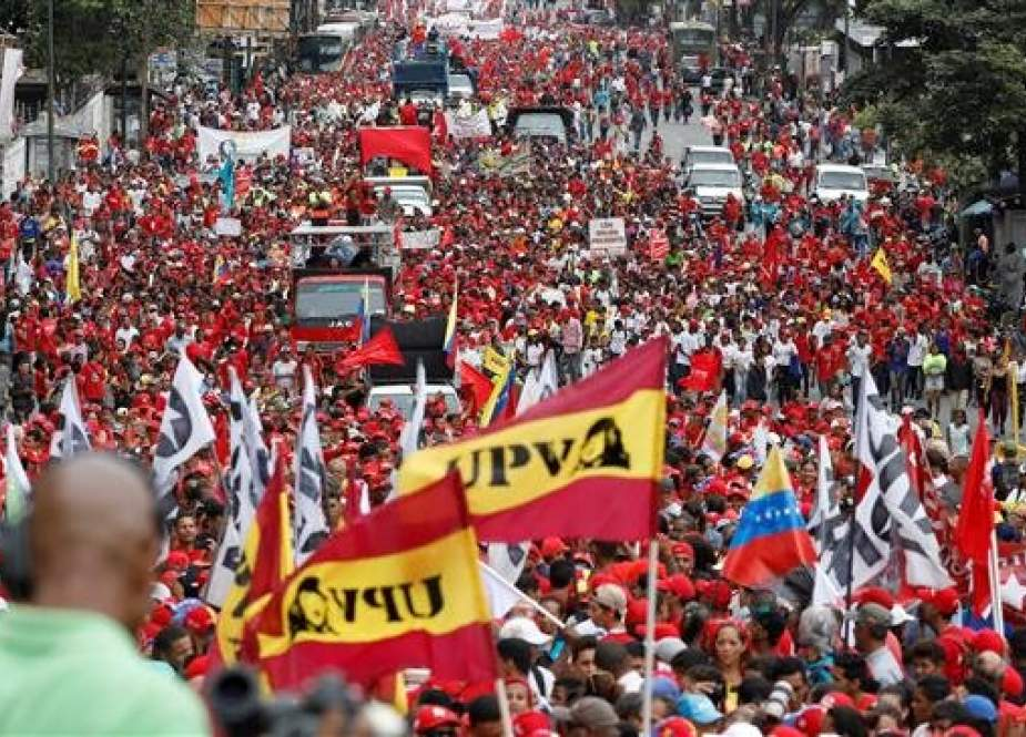 Thousands in Caracas rally in support of Maduro