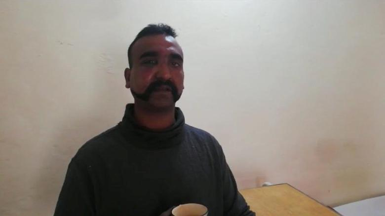 Indian pilot Wing Commander Abhi Nandan, captured by Pakistan, is seen in this photo released February 27.