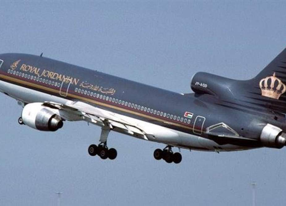 Th file photo shows a plane operated by Royal Jordanian Airlines