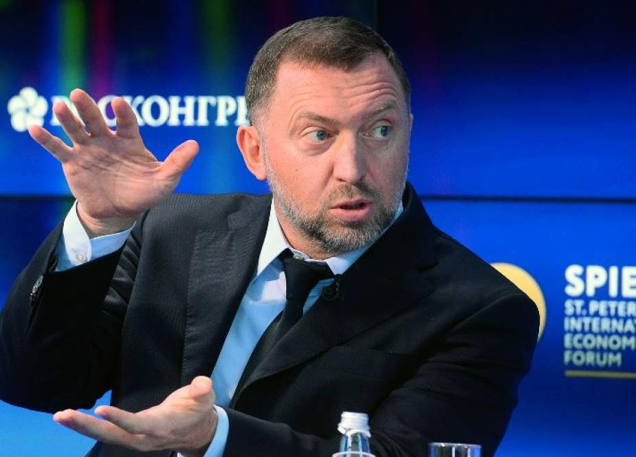 In this file photo, taken on June 1, 2017, Russian billionaire Oleg Deripaska, who heads aluminium producer Rusal, is seen at the St. Petersburg International Economic Forum (SPIEF) in Saint Petersburg, Russia. (By AFP)