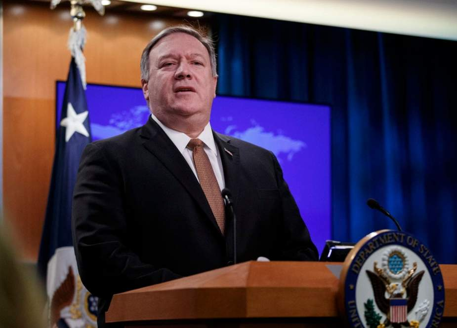 US Secretary of State Mike Pompeo speaks to reporters at the State Department in Washington on March 15, 2019. (Photo by AFP)