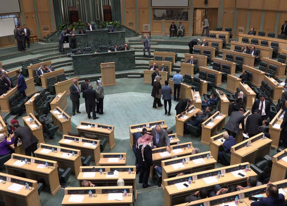 This file picture shows a view of the Jordanian parliament in session in the capital Amman.