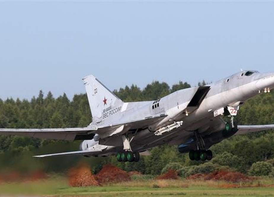 This file photo shows a Russian Tupolev Tu-22M3 long-range bomber