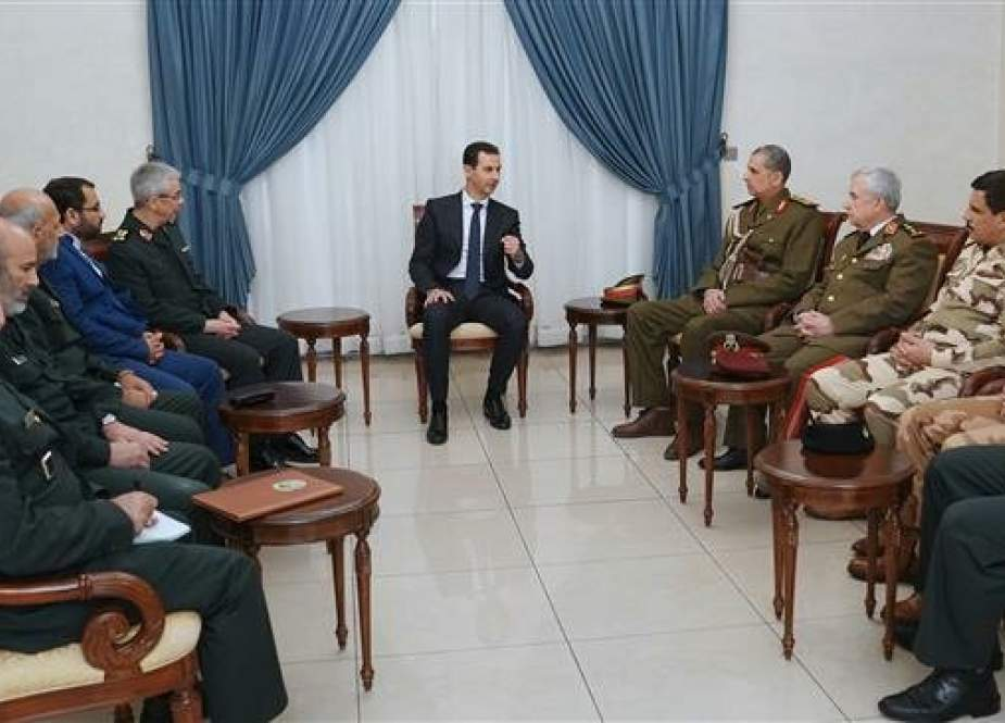 Syria's President Bashar al-Assad meets with Iranian Military delegation.jpg