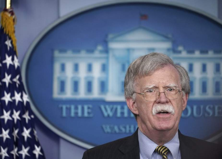 In this file photo taken on January 28, 2019, US National Security Adviser John Bolton speaks during a briefing in the Brady Briefing Room of the White House in Washington, DC. (Photo by AFP)