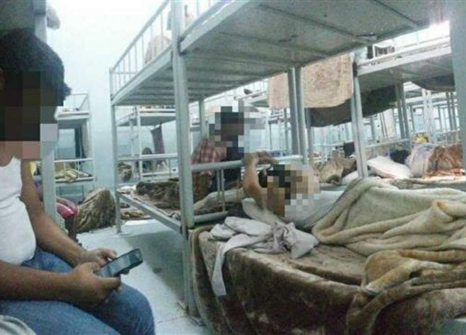 This file photo shows detained Rohingyas in the Shumaisi detention center in Saudi Arabia.