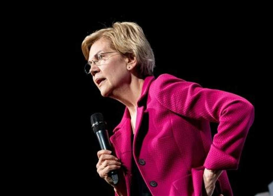 "US Democratic presidential candidate Senator Elizabeth Warren speaks during the ""We The People"" Summit at the Warner Theatre April 1, 2019, in Washington, DC. (AFP photo)"