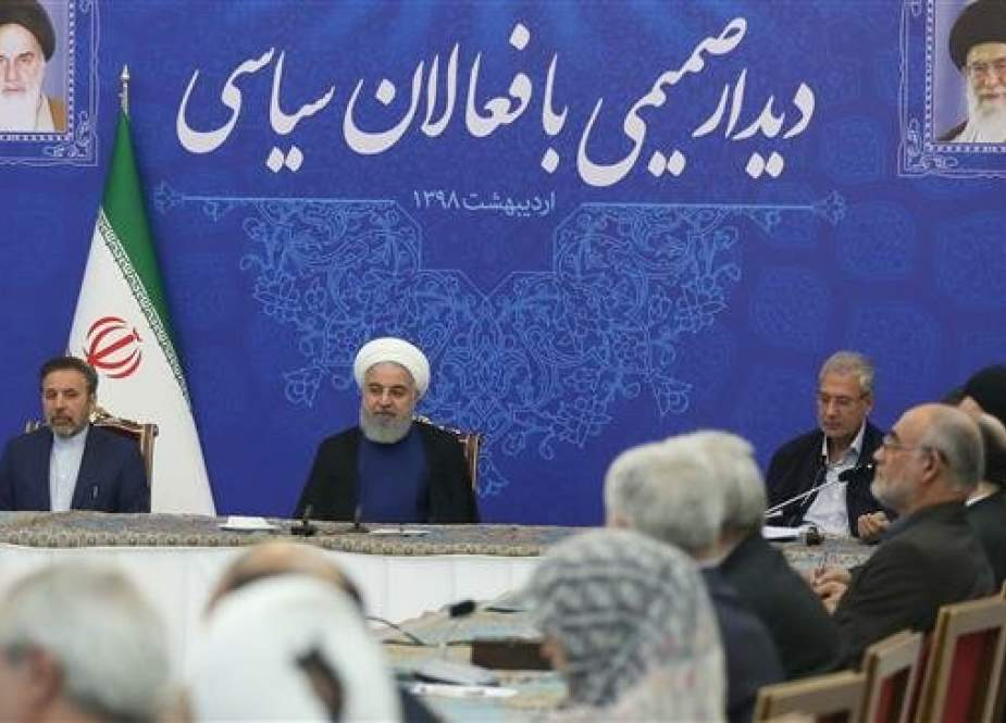 Iranian President Hassan Rouhani is listening to political activists.jpg