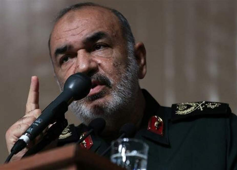 Major General Hossein Salami, the chief commander of Iran's Islamic Revolution Guards Corps (IRGC)