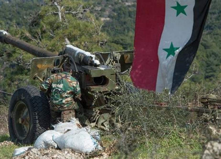 Syrian army soldier preparing to fire artillery.jpg