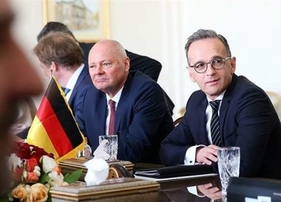 German Foreign Minister Heiko Maas on a one-day visit to Tehran, June 10, 2019. (Photo by AFP)