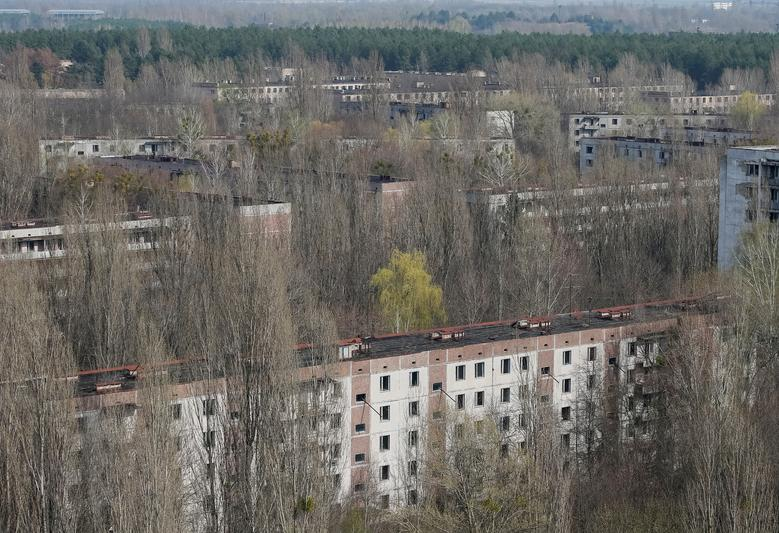 A view of the abandoned city of Pripyat near the Chernobyl power plant