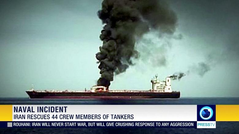 A second Japanese-owned tanker was abandoned after being hit by a suspected torpedo, the firm that chartered the ship said. The crew were also picked up