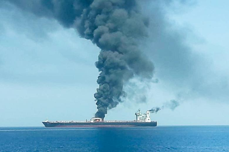 The attacks were the second in a month near the Strait of Hormuz, a major strategic waterway for world oil supplies