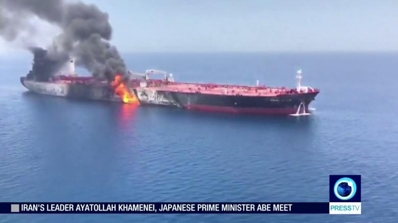 Iranian search and rescue teams picked up 44 sailors from the two damaged tankers and took them to the Iranian port of Jask, Iran's IRNA reported