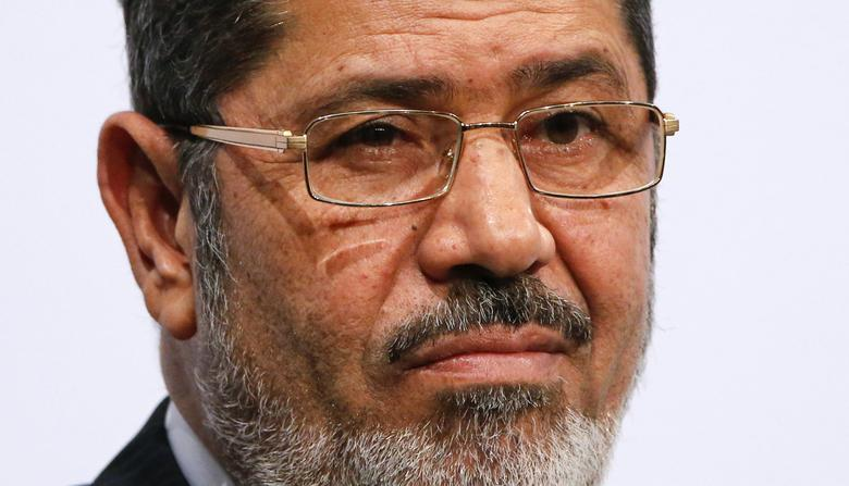 Egypt's President Mohamed Mursi gives a speech at the Koerber foundation for social challenge in Berlin January 30, 2013