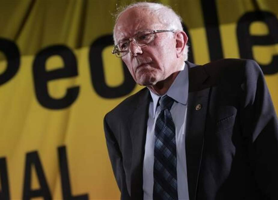 Sen. Bernie Sanders addresses the Moral Action Congress of the Poor People