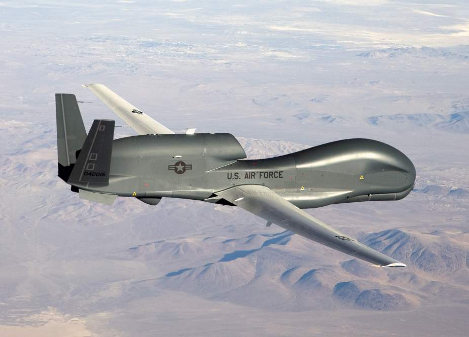 A file photo of an American RQ-4 Global Hawk unmanned aircraft