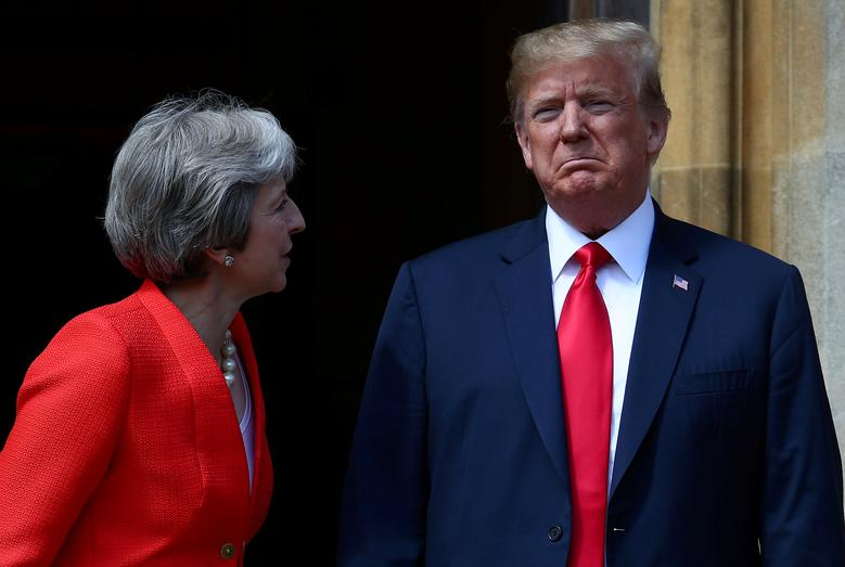 President Donald Trump said his government would no longer deal with the British ambassador to the United States after the envoy described the Trump administration as