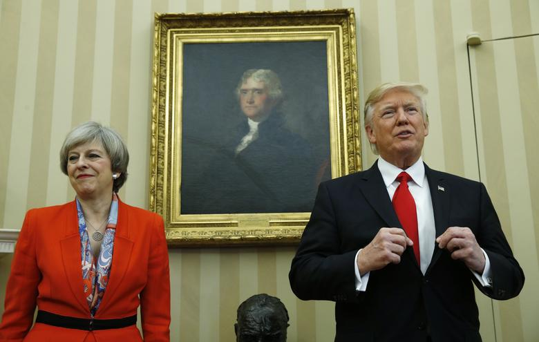 January 2017 - Prime Minister Theresa May becomes the first foreign leader to visit Trump in Washington after he took office