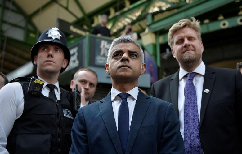 June 2017 - Trump criticizes London Mayor Sadiq Khan, a Muslim, on Twitter following a deadly attack by three Islamists on the British capital. He accused Khan of making a
