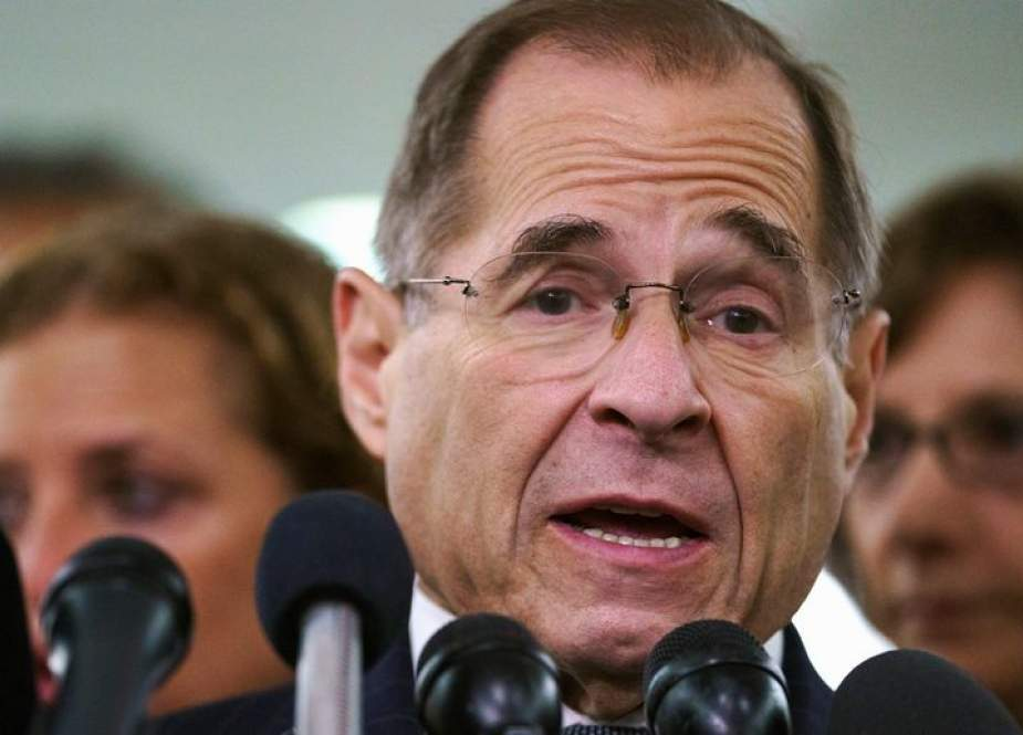 US House Judiciary Committee Chairman Rep. Jerry Nadler (D-NY) speaks to members of the media at Rayburn House Office Building on Capitol Hill June 26, 2019 in Washington, DC.