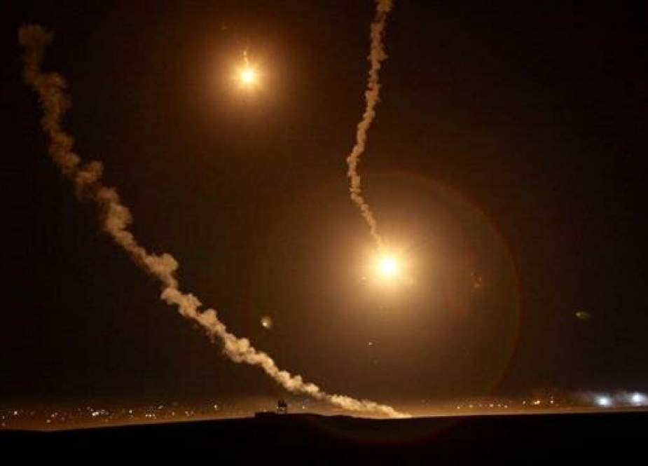 Israeli interception of rockets allegedly fired from the Gaza Strip.jpg