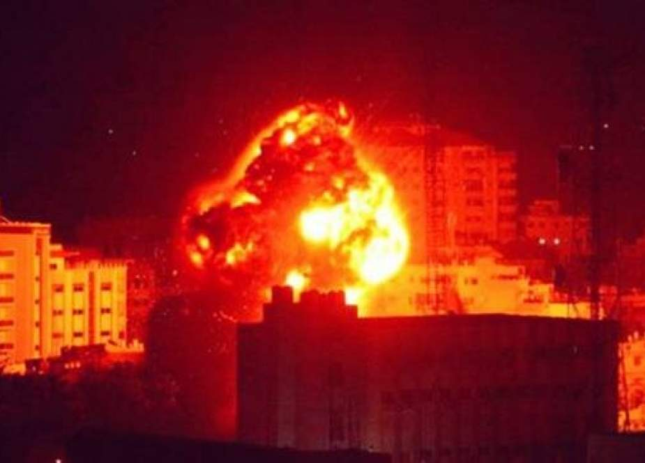 An attack by Israeli warplanes on a residential area in the Gaza Strip..jpg