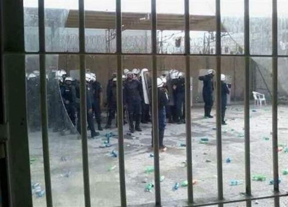 Bahraini police at the notorious Jaw prison south of the capital, Manama.jpg