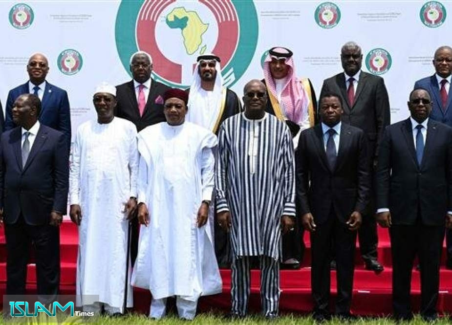 West African leaders pose after the opening ceremony of ECOWAS security summit in the capital of Burkina Faso, Ouagadougou, on September 14, 2019