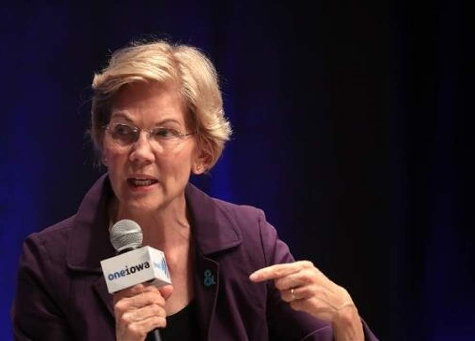 Elizabeth Warren, US Democratic presidential candidate Massachusetts Senator.jpg