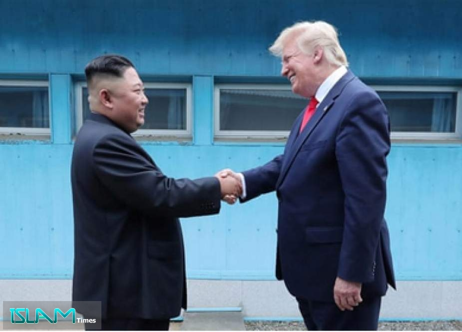 Talks were stalled since the Hanoi summit between Trump and Kim in February ended without agreement [File: KCNA/Reuters]
