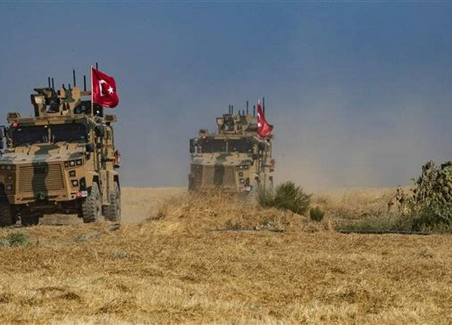 Turkish military vehicles, part of a US military convoy in Syria.jpg