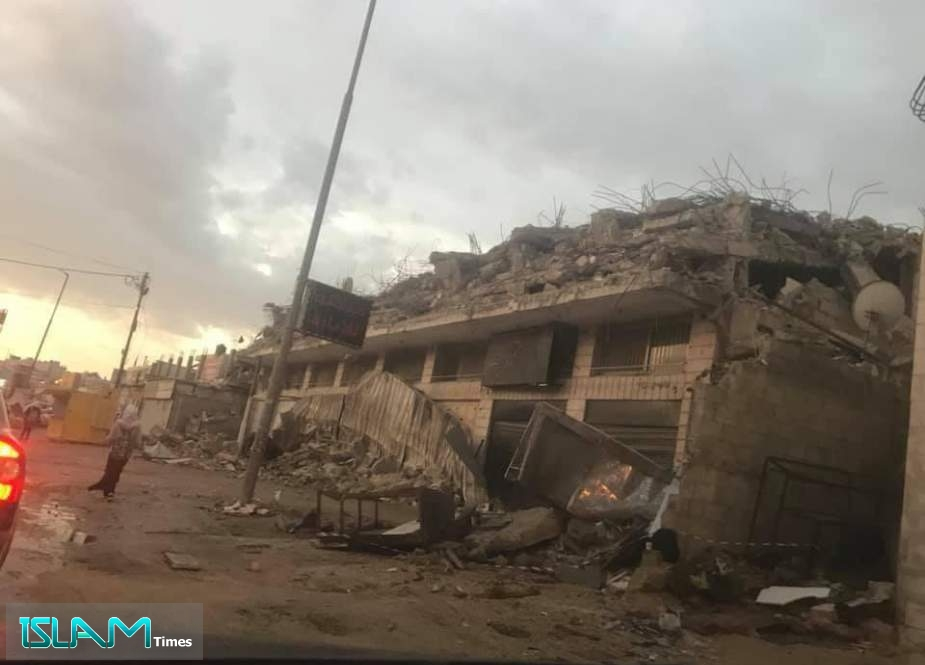 The Occupation Forces Demolish the House of the Martyr