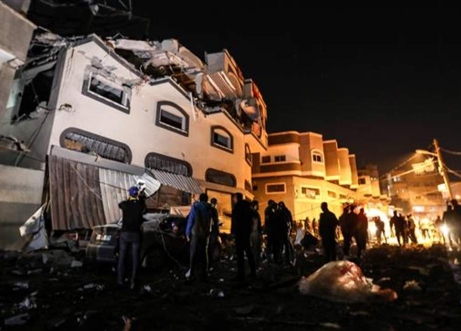 House of senior Islamic Jihad commander Baha Abu al-Ata after an Israeli attack in Gaza city.jpg