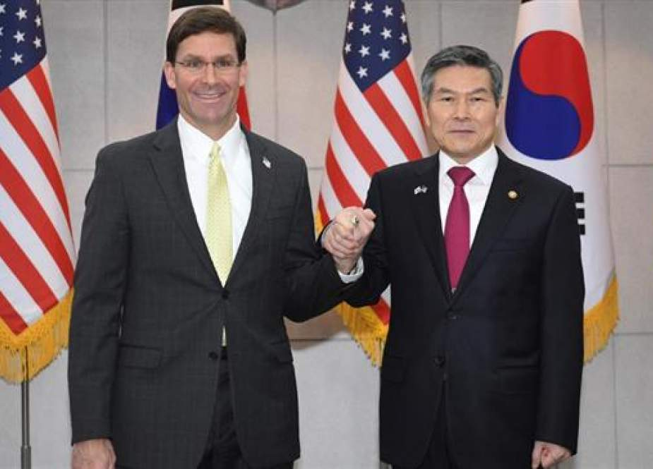 US Defense Secretary Mark Esper with South Korean Defense Minister Jeong Kyeong-doo.jpg