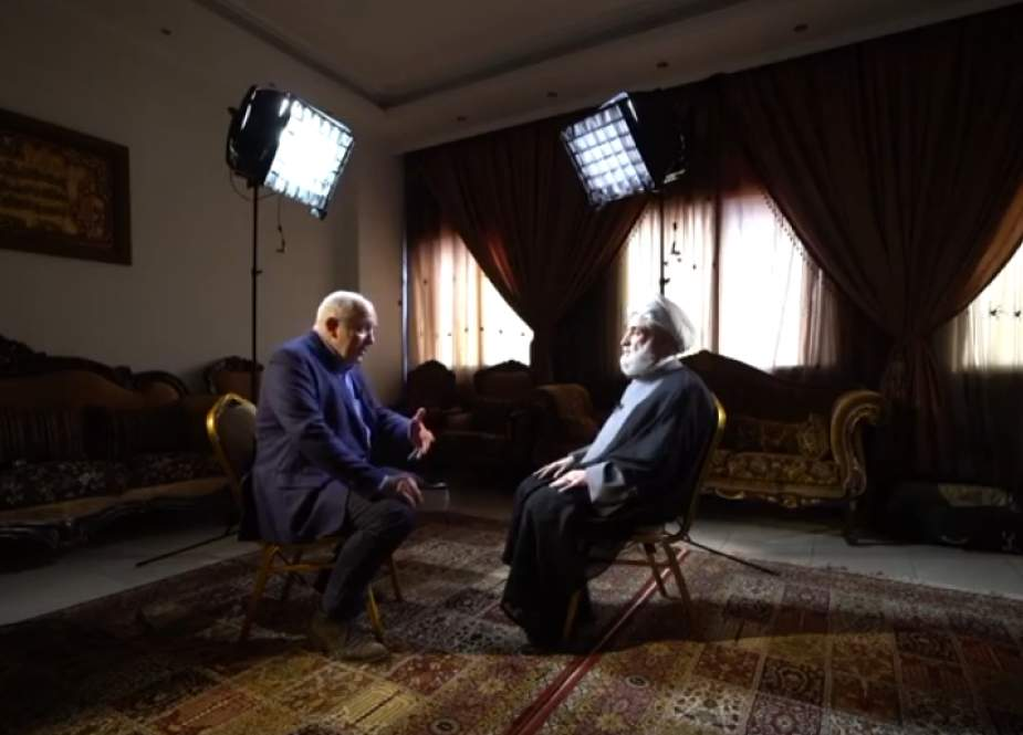 Hezbollah Deputy Chief Sheikh Naim Qassem during an interview with the BBC.png