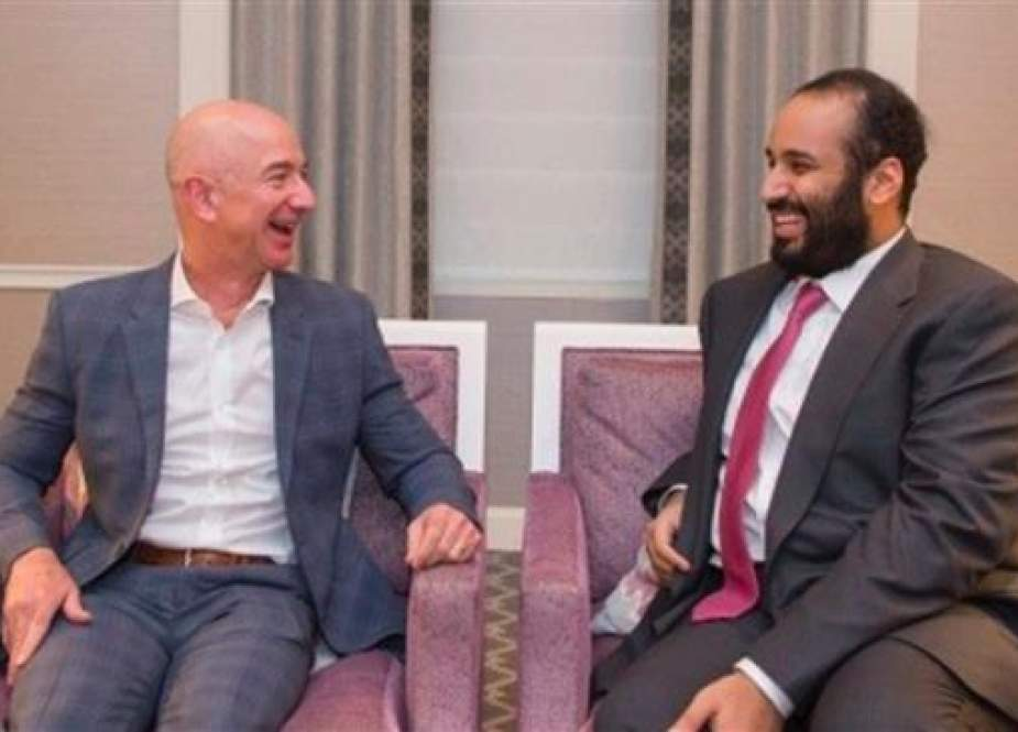 Amazon CEO and Washington Post owner Jeff Bezos with Saudi Crown Prince Mohammed bin Salman in the US.jpg