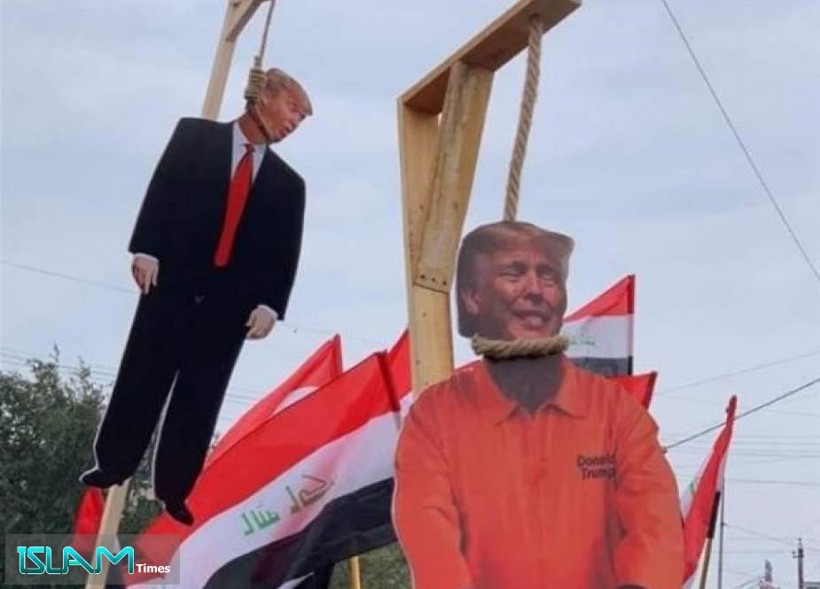 Iraqis Hang the Puppet Trump on the Streets of Baghdad