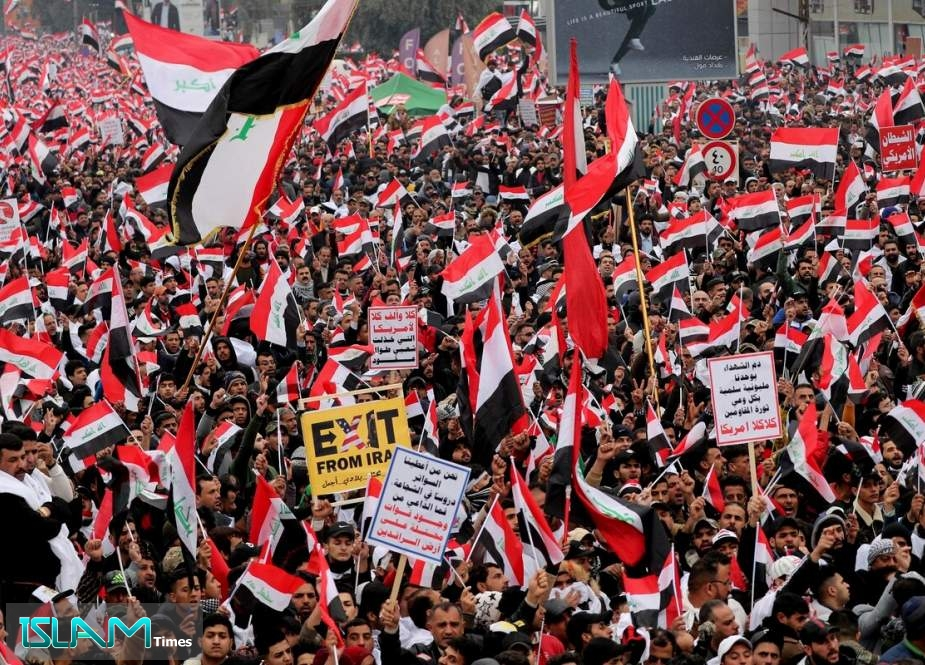 Iraqis Hold 'Million-Man March' against US Military Presence in Baghdad