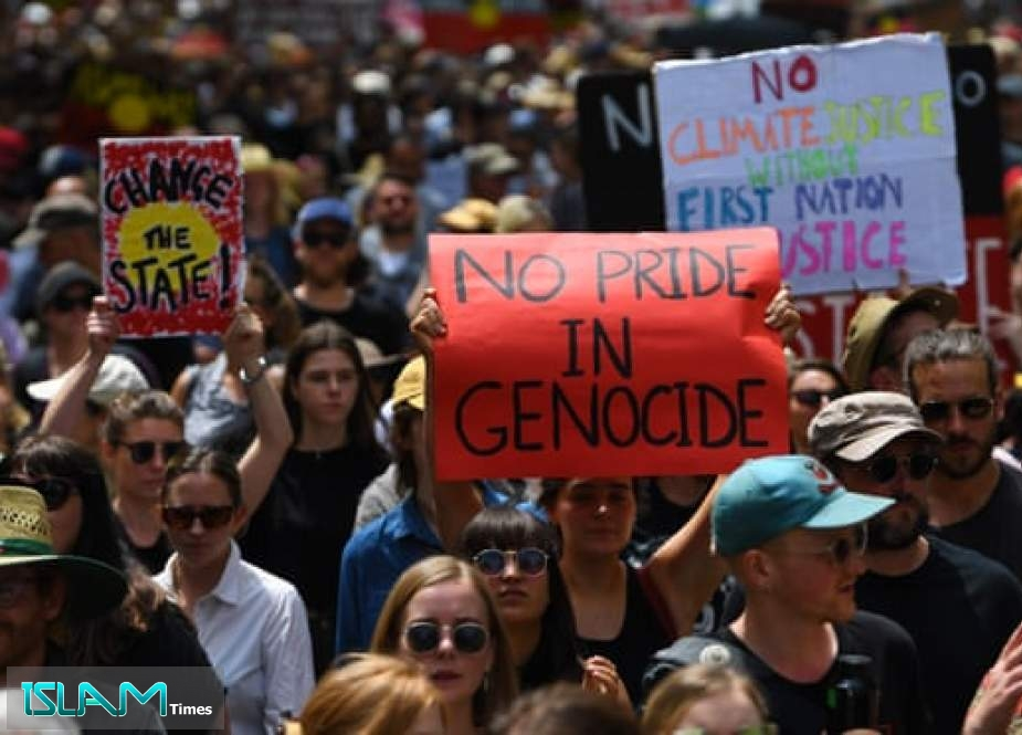 10,000s Rally to Oppose Australia Day Which Marks Start of British Colonialism