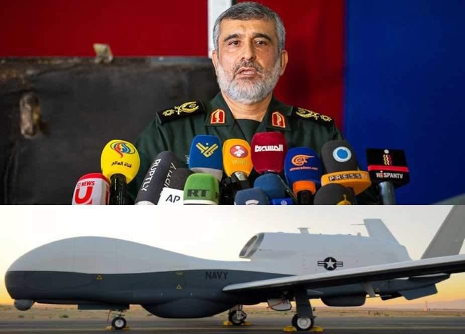 एमक्यू -4 अमेरिकी ड्रोन प्रौद्योगिकी का पता लगाता है, यह ईरान के खिलाफ अब उपयोगी नहीं है: जनरल हाजी ज़ादा